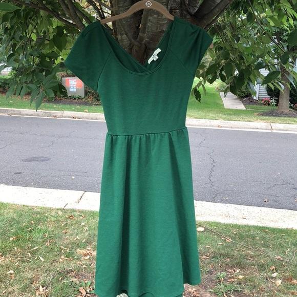 Ya Los Angeles Dresses & Skirts - Ya Emerald Green Cross-Back Dress